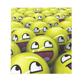 happy faces note pad