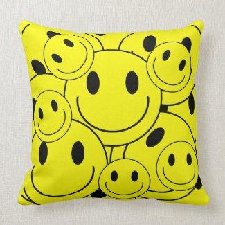 Happy Faces Pillow mojo_throwpillow