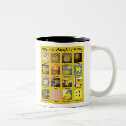 Coffee Makers Through History : happy faces through art history Two-Tone coffee mug Zazzle