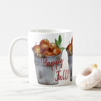 Happy Fall! Autumn Apples Coffee Mug