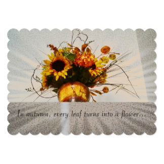 Happy Fall/Autumn Season card or invitation