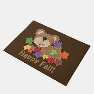 Happy Fall bear door mat Doormat