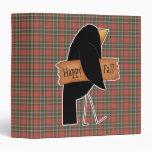 happy fall black crow binders