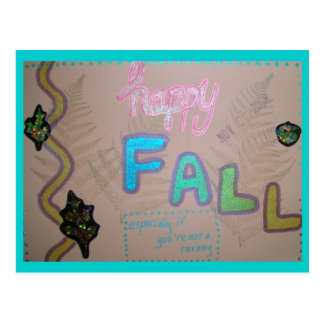 Happy Fall Collage Postcard