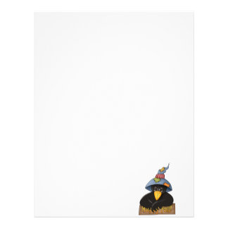 happy fall crow letterhead template