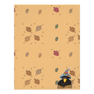 happy fall crow personalized letterhead