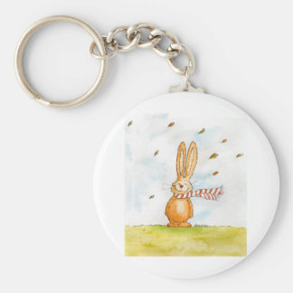 Happy Fall - Cute Autumn Greetings with Bunny in t Keychain