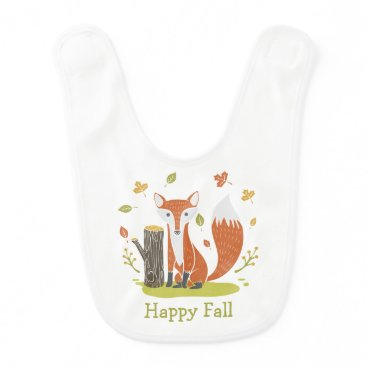 Beach Themed Happy Fall Fox Bib