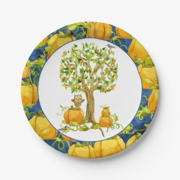 Halloween Themed Happy Fall Harvest Halloween Party Pumpkin Patch Paper Plate