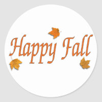 Happy Fall Items Classic Round Sticker