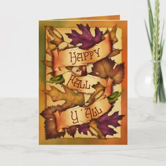 Happy Fall Leaves card