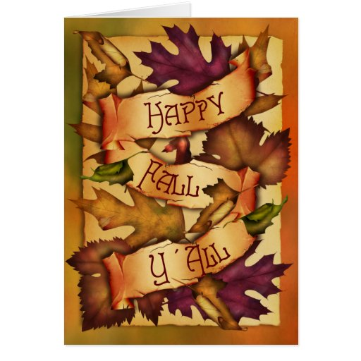 Happy Fall Leaves Greeting Card