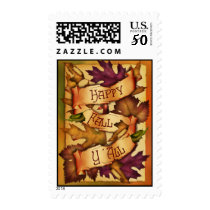 Happy Fall Leaves Postage