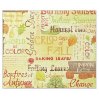 Happy Fall Linen Wrapping Paper