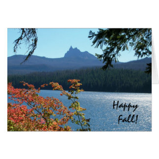 Happy Fall, Marion Lake Greeting Cards