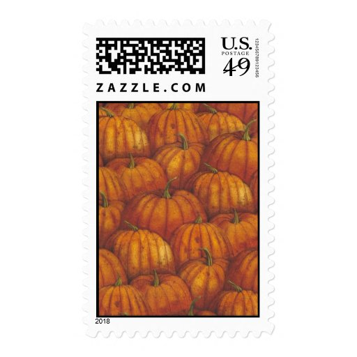 Happy Fall Postage Stamp