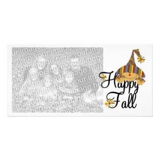 Happy Fall Scarecrow Photo Card