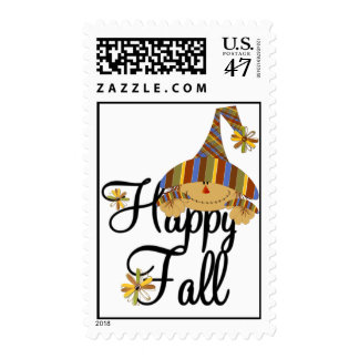 Happy Fall Scarecrow Postage