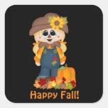 Happy Fall scarecrow Seasonal sticker