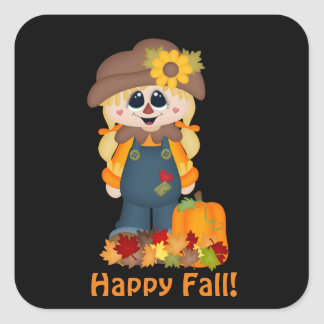 Happy Fall scarecrow Seasonal sticker