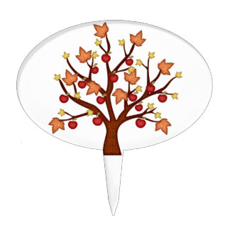 Happy fall tree cake topper