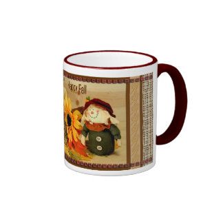 Happy Fall with Two Happpy Scarecrows Mug