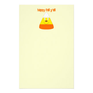 Happy Fall y all candy corn stationary Customized Stationery