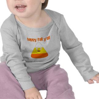 Happy Fall y all candy corn Tshirt