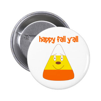 Happy Fall y'all candy corn 2 Inch Round Button