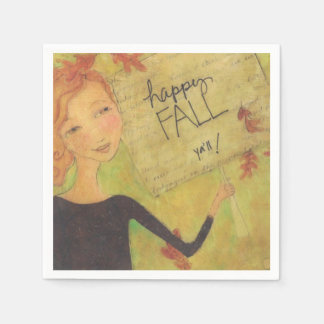 Happy Fall Y'all Paper Napkins