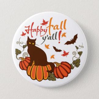 Happy fall y'all! pinback button