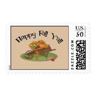 Happy Fall Y'all Postage
