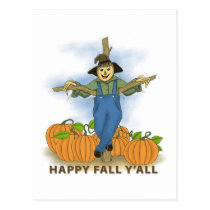 Happy Fall Y'All Postcard
