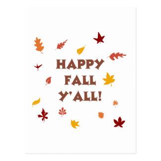 Happy fall ya'll! postcard