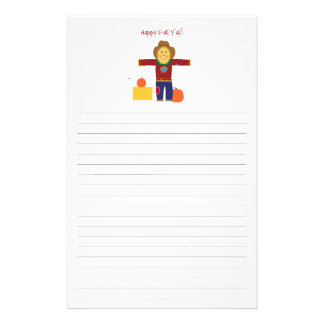 Happy Fall Y'all: Scarecrow lined stationary. Stationery
