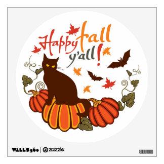 Happy fall y'all! wall sticker