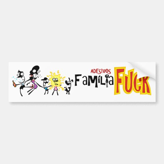 Happy Famíla adhesive version World Cannibal Bumper Sticker