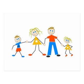 Happy Families Postcard