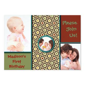 Happy Family 5x7 Paper Invitation Card
