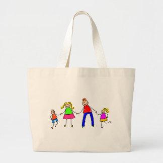Happy Family Jumbo Tote Bag