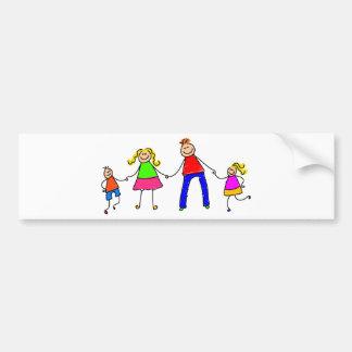 Happy Family Bumper Sticker