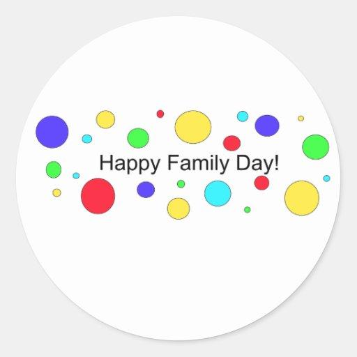 Happy Family Day! Classic Round Sticker