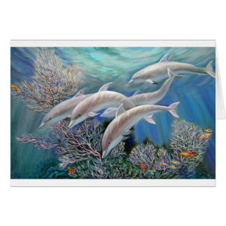 Happy_Family_-_Dolphins_Are_Awesome.JPG Greeting Card