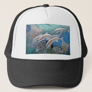 Happy_Family_-_Dolphins_Are_Awesome.JPG Trucker Hat