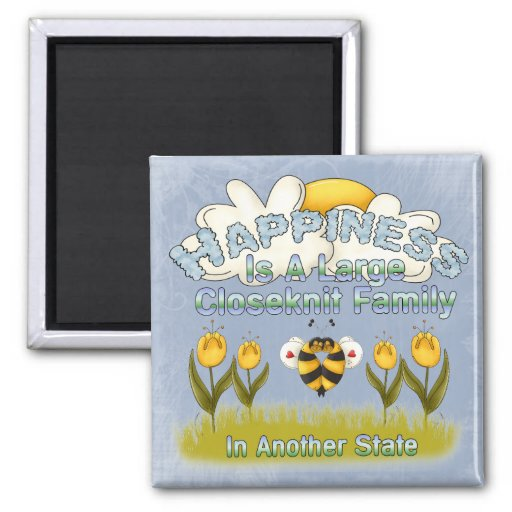 Happy Family Refrigerator Magnet