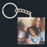 """Happy Family of Three Keychain<br><div class=""""desc"""">Leave your house but take your loved ones with you, thanks to this customizable keychain. There's nothing in the world that's as important as family, and you'll never forget that fact with this heart-warming photo keychain. It's easy to adapt and edit with your own images, and the acrylic material is...</div>"""