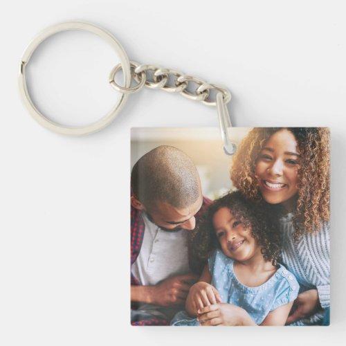 Happy Family of Three Keychain