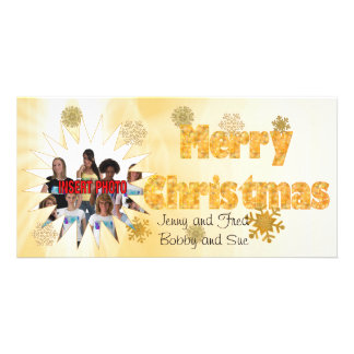 Happy Family Photo Christmas Card Personalized Photo Card