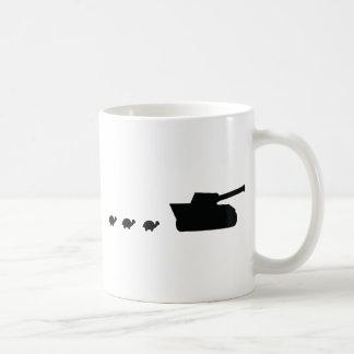 happy family tank and turtles icon coffee mug