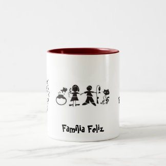 Happy family Two-Tone coffee mug